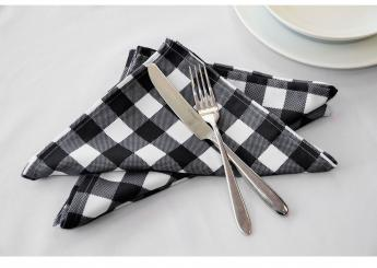 Black Gingham Napkins