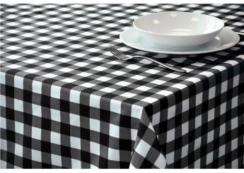 Black Gingham Tablecloth