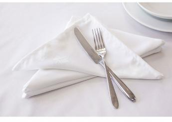White Ivy Leaf Napkins
